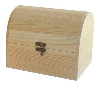Caja baúl pino. En madera en crudo, para pintar. Ideal para manualidades y decoración: Amazon.es: Hogar