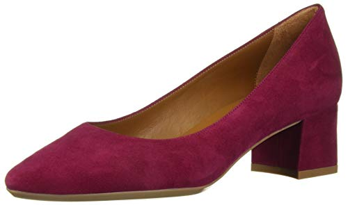 Aquatalia Women's Pasha Dress Suede Pump, Cherry, 9 M US