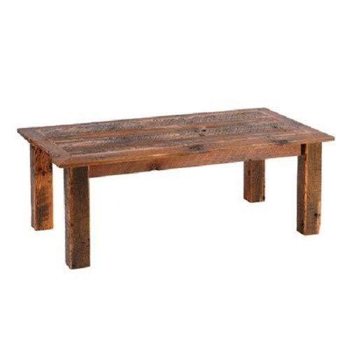 Fireside Lodge Furniture Barnwood Open Coffee Table, Barnwood Legs
