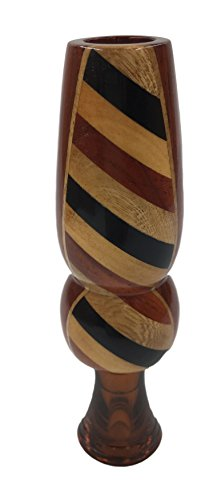 Wood Duck Single Reed - Classy Duck Calls 2l2 Profile Solid Padauk Inlaid Hardwoods Single Reed