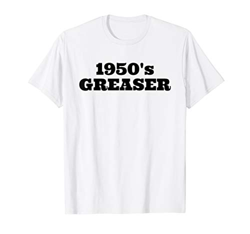 1950's Greaser Tshirt 50s Sock Hop Shirt Men Boys -