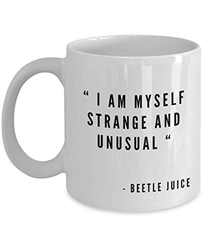 Beetlejuice Movie Hot Topic Merchandise Mug Tim Burton Gifts Decor Morphing Cup Spooky Valentines Birthday Party Comedies Retro For Friend Girlfriend ()