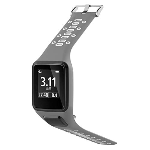 Chronograph Gray Unisex - For Tomtom Runner 2/3 Spark/3 Sport Replacement Silicone Watch Strap Watch By Larmly(Gray)
