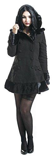 Hell Bunny Sarah Jane Coat Abrigo Mujer Negro Negro