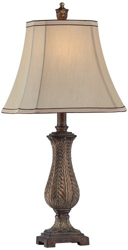 """Petite Vase Rectangle Shade 25"""" High Table Lamp"""