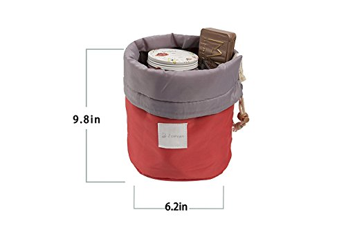 3966c506ba Zoevan Waterproof Cosmetic Bags Makeup Bag Travel Barrel Cases Kit  Organizer Bathroom Storage Carry Case Toiletry