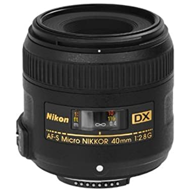 Nikon AF-S DX Micro-NIKKOR 40mm f/2.8G Fixed Zoom Lens with Auto Focus for Nikon DSLR Cameras