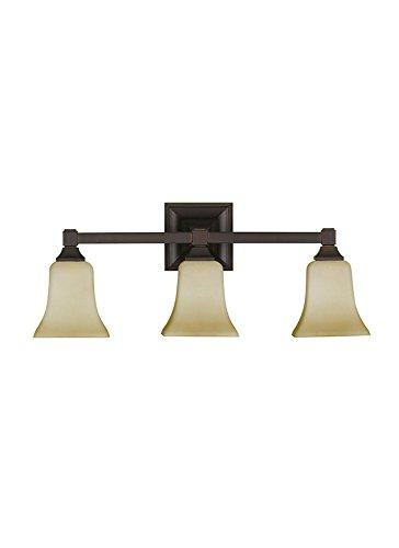 Feiss VS12403-ORB 3-Bulb Vanity Light Fixture, Oil Rubbed Bronze Finish For Sale