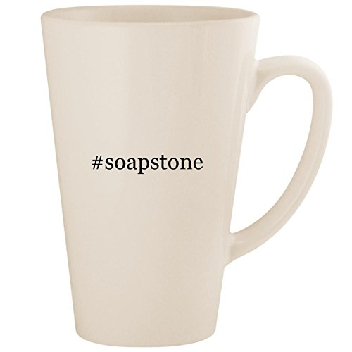 #soapstone - White Hashtag 17oz Ceramic Latte Mug Cup