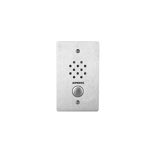 Aiphone Flush Mount,1-Gang Stainless Sub-Station