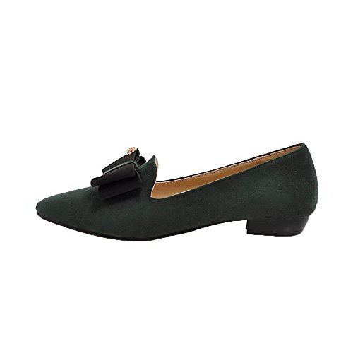 AgooLar Solid Flats Plastica Donna Basso Tacco Ballet Verde GMMDB006797 Tirare rAT6rqw