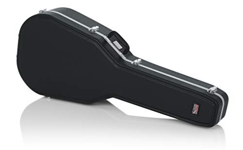 Gator Cases Deluxe Molded Case for Acoustic Guitars; Fits Ovation Style Deep Contour Acoustic Guitars (GC-DEEP BOWL) (Molded Acoustic Guitar Case)