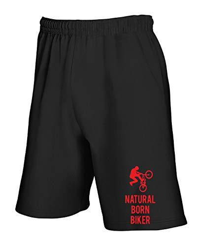 T Born Sp0112 shirtshock Tuta Biker Nero Pantaloncini Natural f8fwRUrq