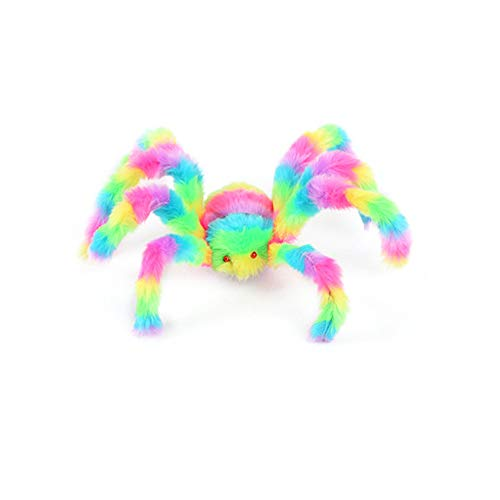 Choosebuy Cartoon Spider Plush Prop, Soft Animal Doll Interactive Dress up Stuffed Toys Halloween Christmas Party Gift (A) ()