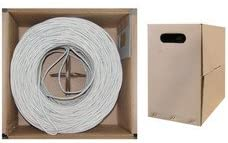 Pullbox 1000 ft Solid QualConnectTM Bulk Cat6 White Ethernet Cable Unshielded Twisted Pair UTP