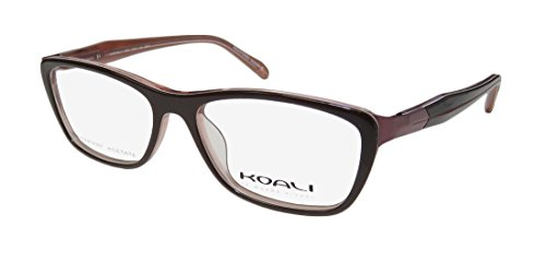 Koali 2894s Womens/Ladies Designer Full-rim Flexible Hinges Eyeglasses/Eyewear (50-14-135, Brown / Mauve) - Koali Eyewear