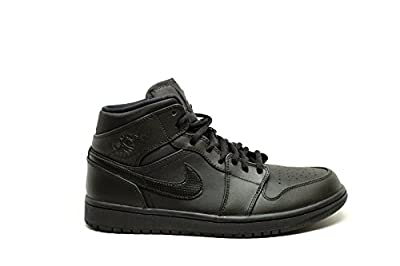 Nike Men's Air Jordan 1 Mid Basketball Shoe Black/White