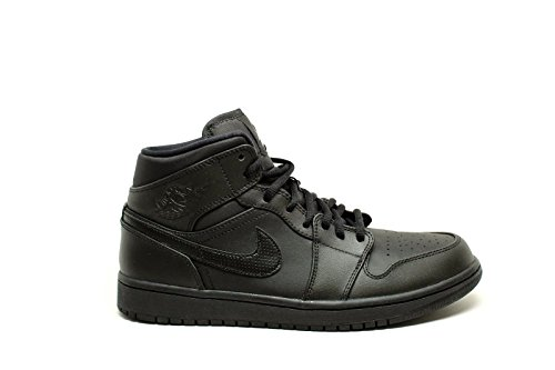 Nike Men s Air Jordan 1 Mid Basketball Shoe Black White