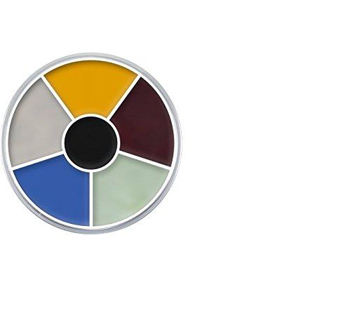 (Kryolan Cream Color Circle 1306 Monster Makeup Palette 6 Colors )