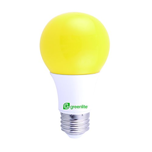 Yellow Repellent Bug Light Bulb (Yellow LED Bug Light Bulb, 9W (60W Equivalent) Outdoor, A19, E26 Medium Base, 120V, UL Listed and RoHS Certified (1 Pack))