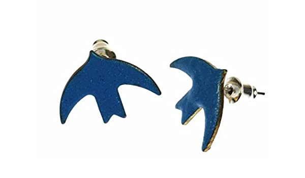 Plug esmalte pendientes golondrina Miniblings pájaros paloma ...