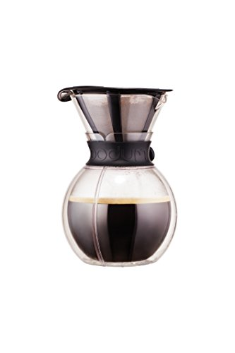 Bodum Pour Over Double Wall Coffee Maker, 16.2 x 14.9 x 22.2 cm,Transparent