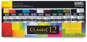 - Liquitex Professional Heavy Body Acrylic Paint Set, Classic 12 (101038)