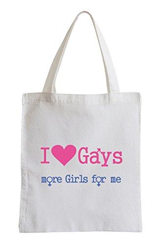 I love Gays, more Girls for me Fun Jutebeutel