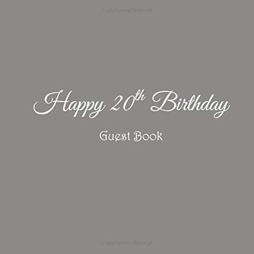 Happy 20th Birthday Guest Book 20 Year Old Party Gifts