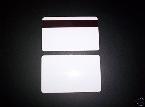 Co Mag Stripe - 1000 CR80 30Mil White PVC Plastic Credit, Gift, Photo ID Cards With HiCo Magnetic Stripe Mag