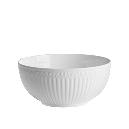 Mikasa Italian Countryside Bone China Soup/Cereal Bowl, 26-Ounces, White ()