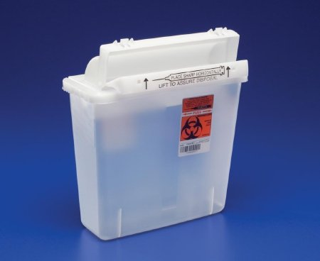 NATIONAL DISTRIBUTION CONTRACTING/MEDPLUS 8537SA SharpSafety Safety In Room Sharps Container with Counter Balanced Lid, 12 quart Capacity, Transparent Red, 16.5'' H x 6'' D x 13.75'' W by NATIONAL DISTRIBUTION CONTRACTING INC/MEDPLUS