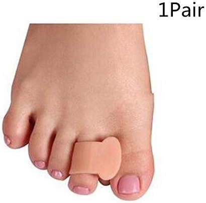 Tatapai Orthopädische Einlegesohlen 4 Stück Silikon Geltoe Corrector Orthesen-Glätteisenseparatorfußpflegecorrectorzehenknochenorthesen-Haut