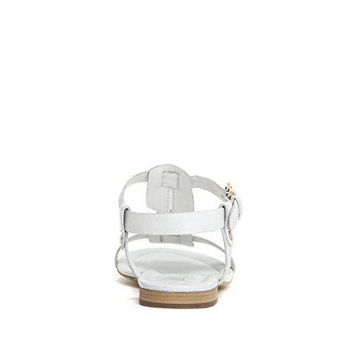 ALESYA by Scarpe&Scarpe - Sandali bassi con dettaglio in metallo, in Pelle - 36,0, Bianco