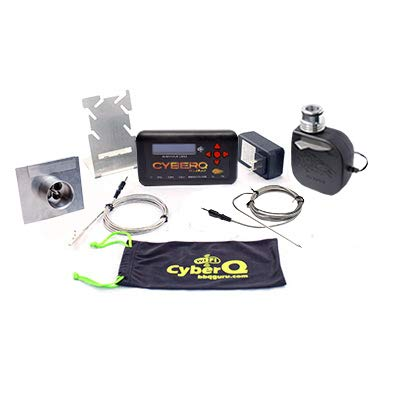 CyberQ Cloud BBQ Temperature Controller with Universal Adaptor for Big Green Egg, Ceramic and Weber Smokey Mountain Cookers