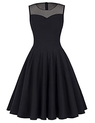 Kate Kasin Sleeveless Cocktail Party Dress Pleated A-Line Semi Formal Dress KK391