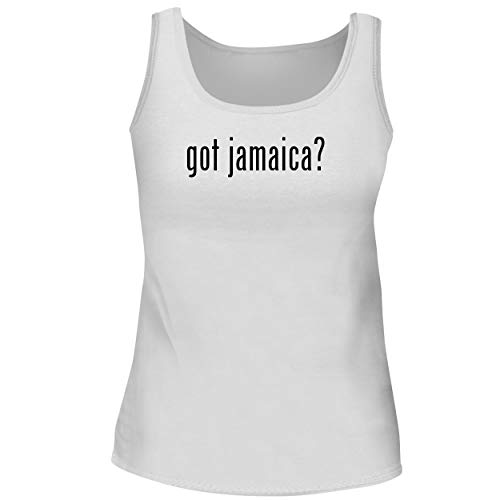 BH Cool Designs got Jamaica? - Cute Women's Graphic Tank Top, White, Medium