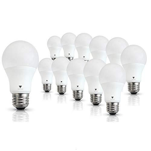 Triangle Bulbs T95135, A19 LED 60 Watt Equivalent Daylight (5000K) Light Bulb, 12 Pack