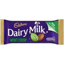 Cadbury Dairy Milk Mint Crisp 54g Chocolate Bar from Ireland