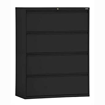 Sandusky Lee LF8F424 09 800 Series 4 Drawer Lateral File Cabinet,  19.25u0026quot; Depth