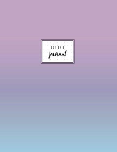 Dot Grid Journal: Violet Pastel Gradient, Dot Grid Paper, Soft Cover, 8.5 x 11, Large, Letter Size, Basic. -