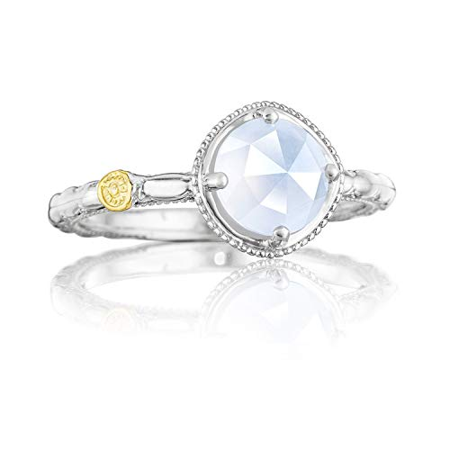 (Tacori SR13403 Classic Rock Sterling Silver Chalcedony Simply Gem Ring, Size 8)