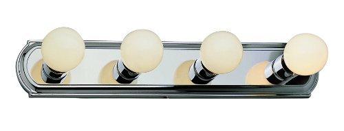 Trans Glob Lighting 3224 ROB 4-Light Racetrack Bathroom Bar Light, Rubbed Oil Bronze by Trans Glob Lighting