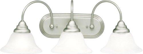 Kichler 10609NI Bath Vanity Wall Lighting Fixtures, Brushed Nickel 3-Light (25