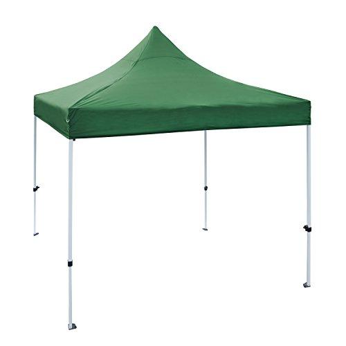 ALEKO GZF10X10GR Foldable Popup Polyester Gazebo Canopy Patio Coffee Shelter 10 x 10 Feet Green