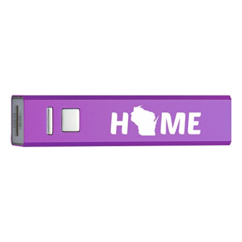 Wisconsin State Outline Home Portable 2600 Mah Cell Phone Charger