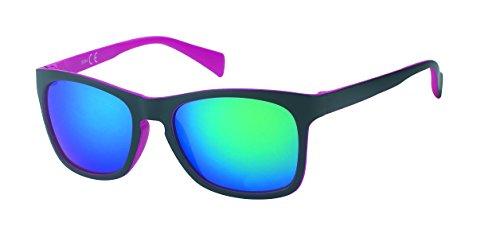 UV soleil Nerd Chic pink miroir Wayfarer Net lunettes schwarzbunt rétro vintage web 400 de nqv4IFRv
