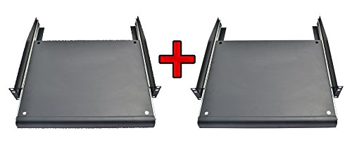 Pack 2 PCS X 1U Rack Mount ADJUSTABLE Pull-Out Sliding Keyboard Mouse Shelf Tray!!