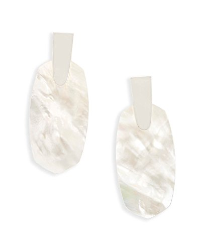 Kendra Scott Aragon Statement Earrings (Silver Plated/Ivory Mother of ()