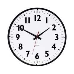 Westclox Wall Clock 14 Dia. Quartz White Black Case 1 Aa Battery